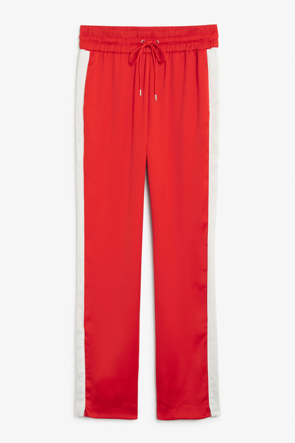Side stripe trousers - Red