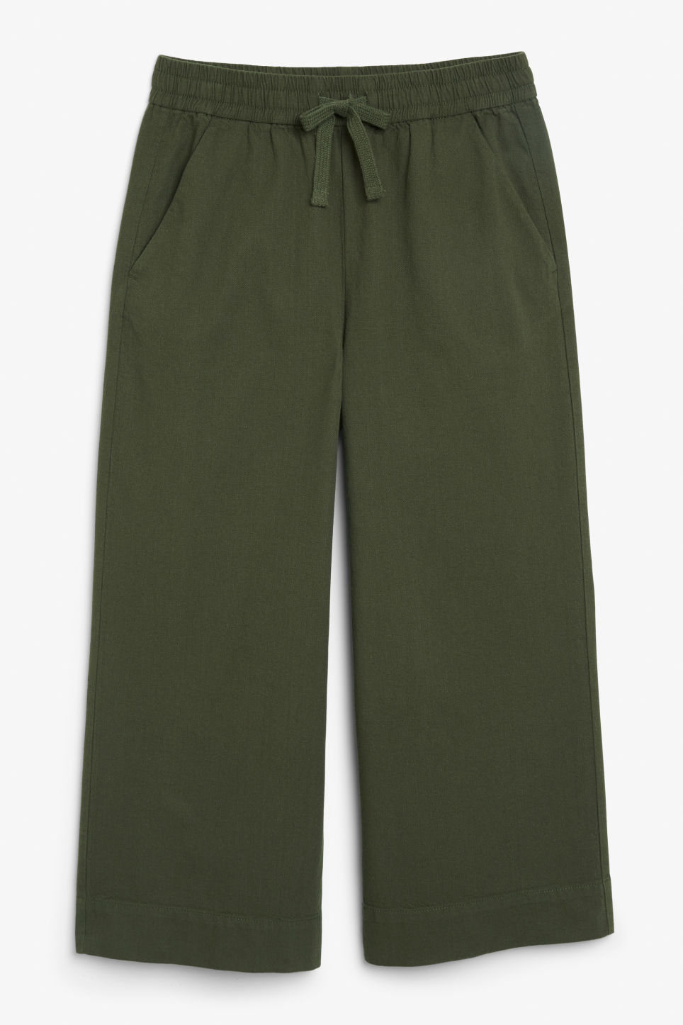 Wide leg canvas trousers - Green
