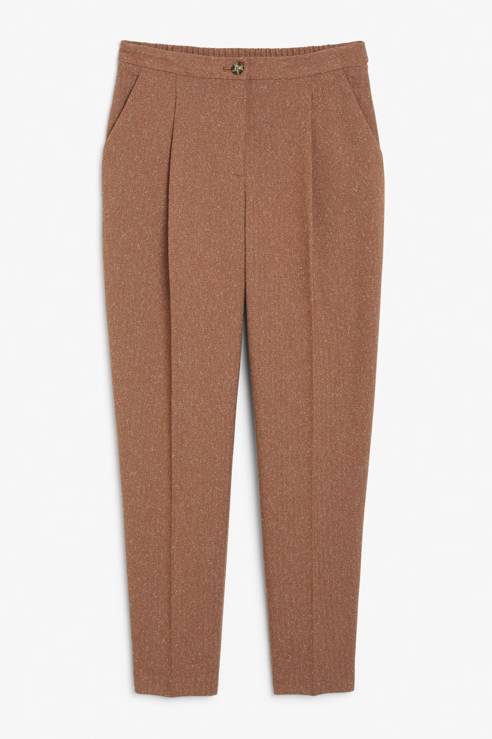Tailored tapered trousers - Beige