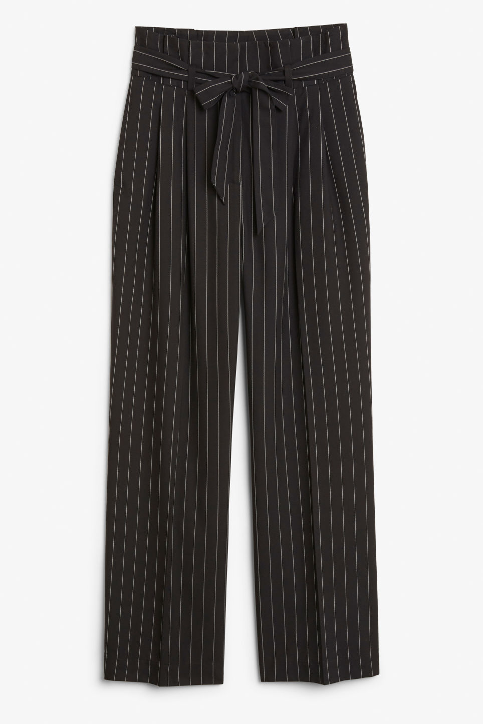 Smart trousers with tie detail - Black