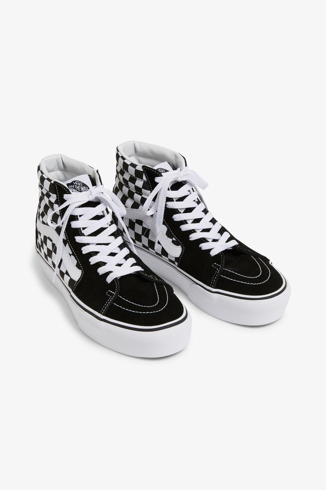 56c8996d14 Vans SK8-HI platform 2.0 - Checkered - Shoes - Monki