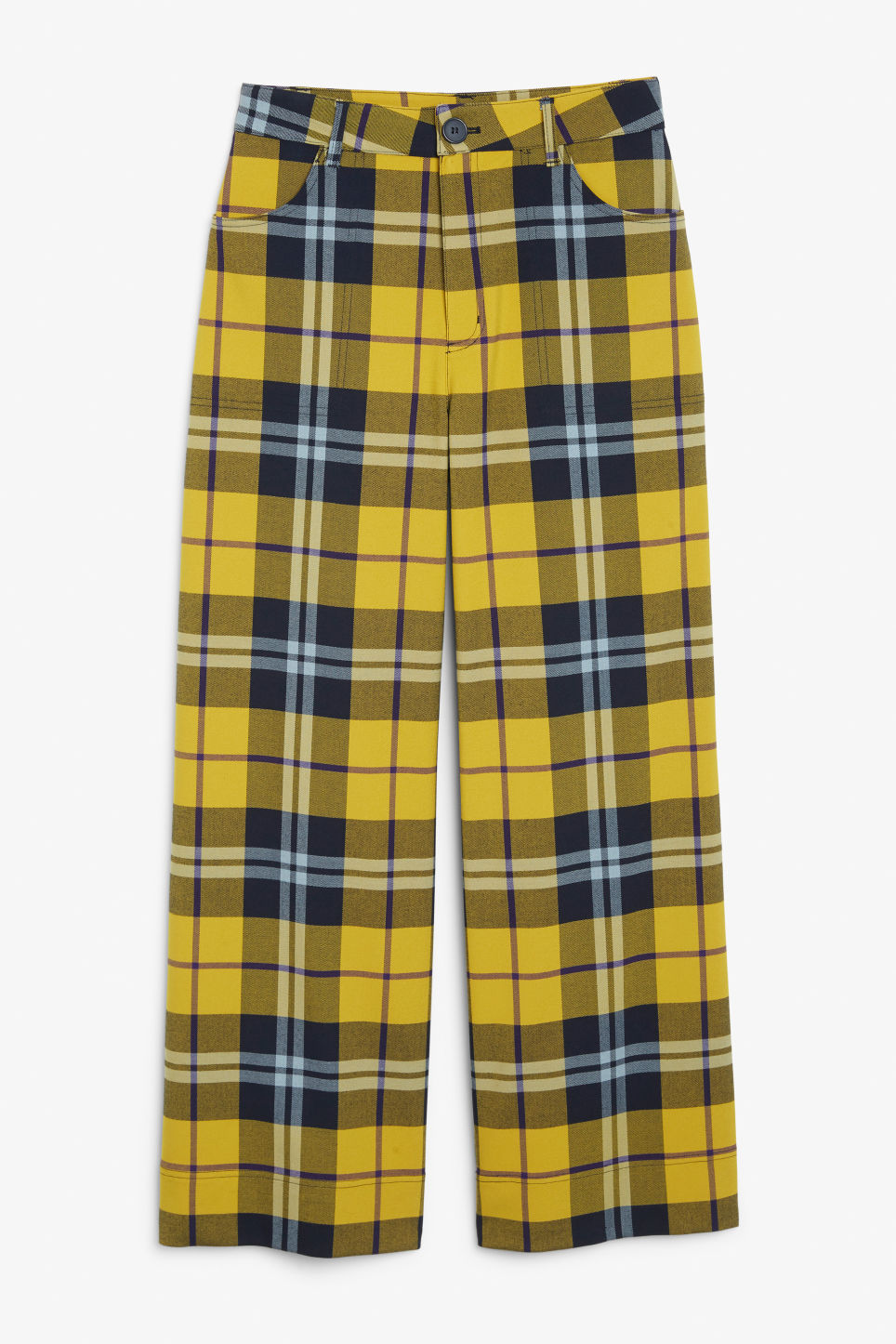 Plaid utility trousers - Yellow