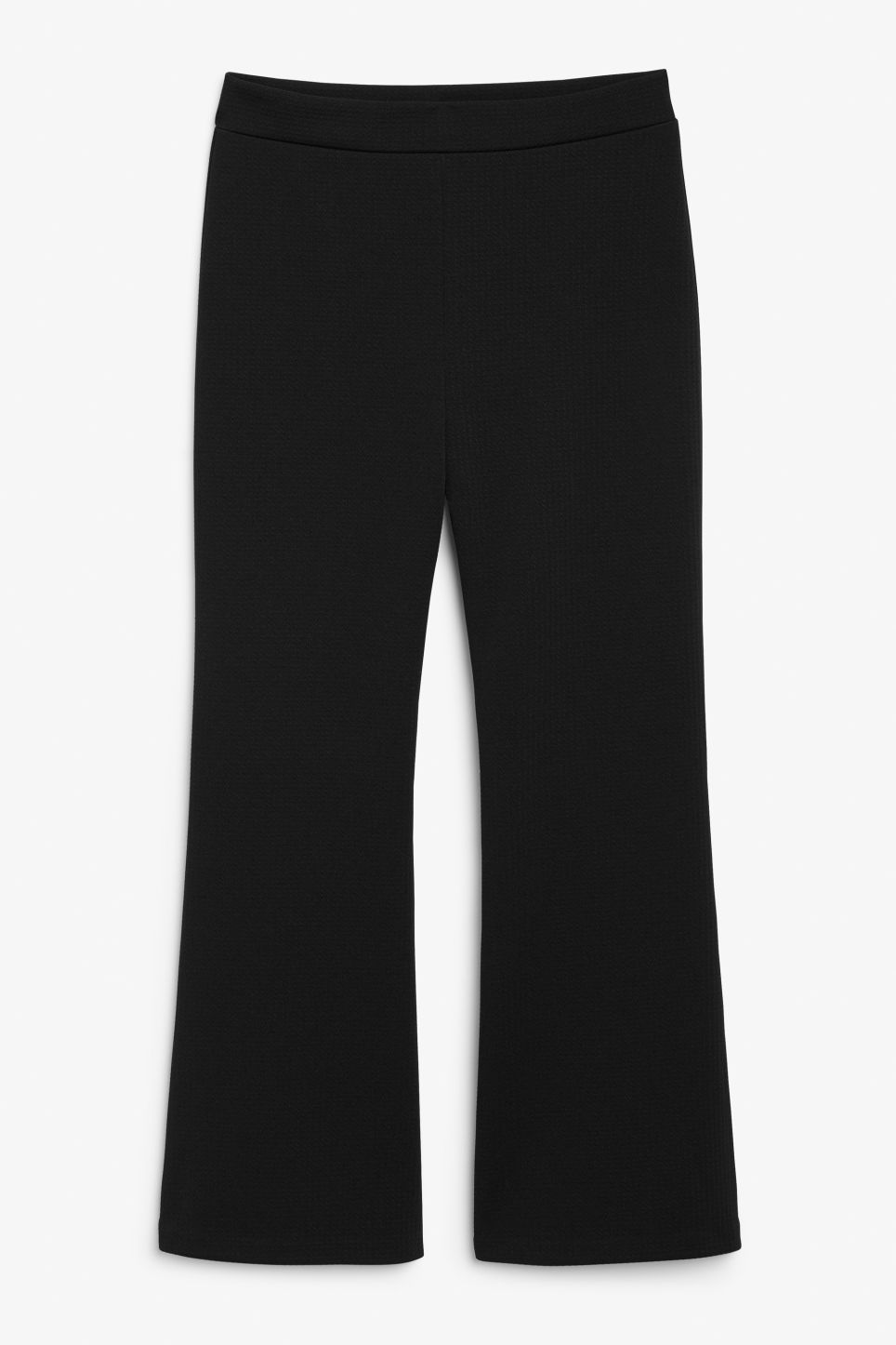 Cropped flare trousers - Black