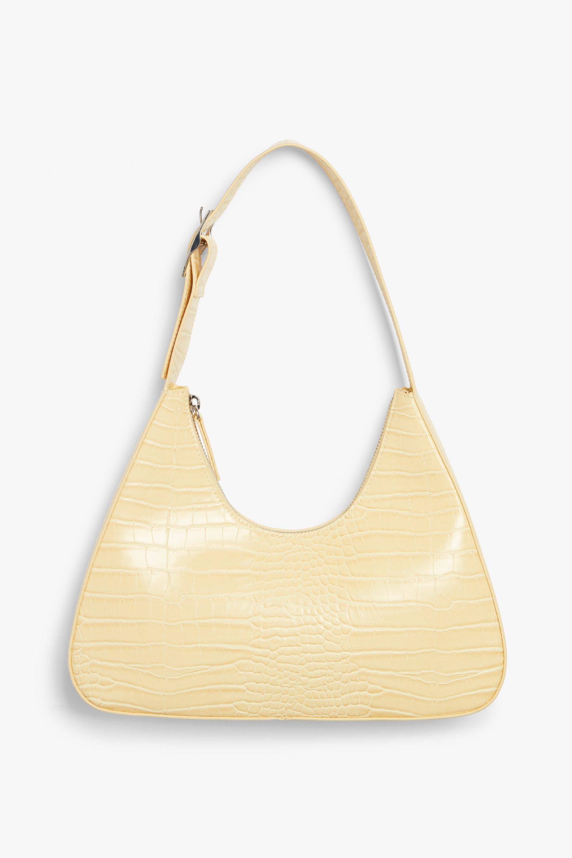 Monki, yellow Faux leather bag