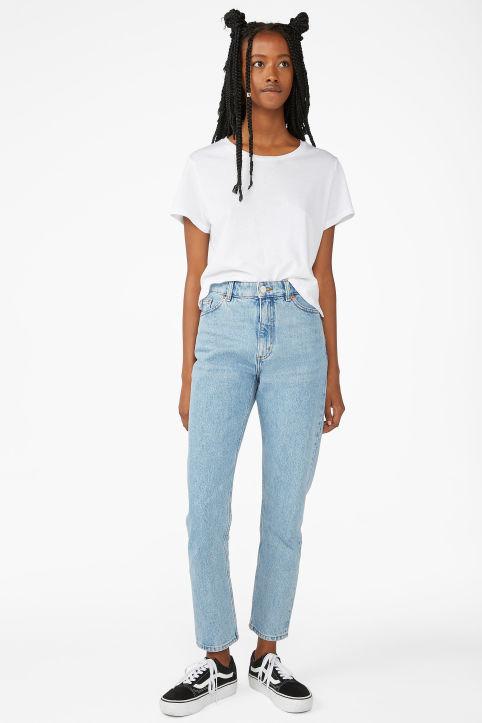 37e77b04fbc52 Kimomo mid blue jeans ...