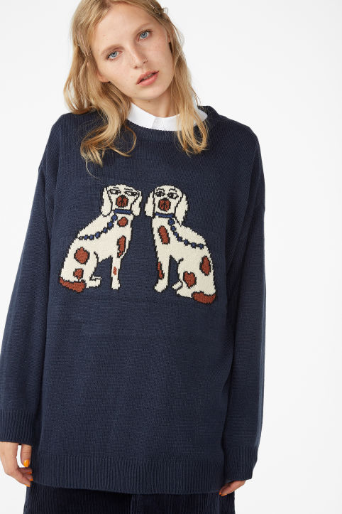 Dog knit sweater