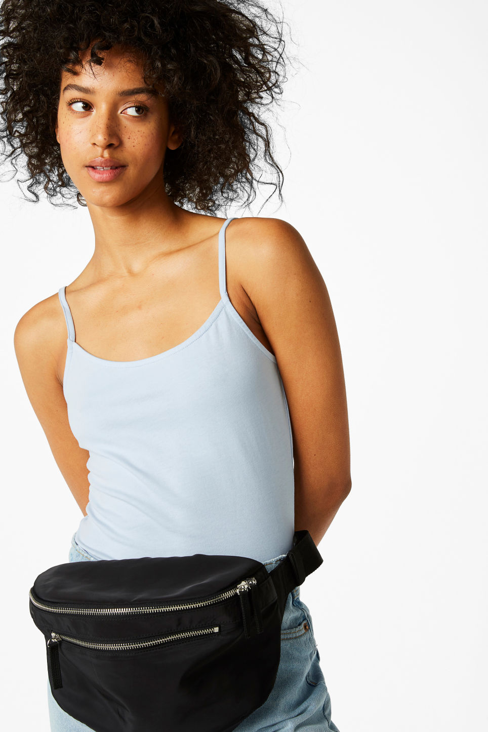 Cropped Singlet Lullabye Blues Tops Monki