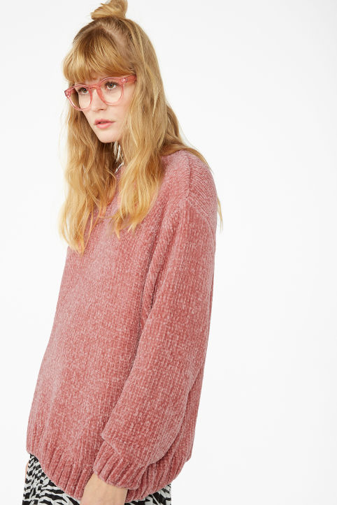 Velvety knit sweater