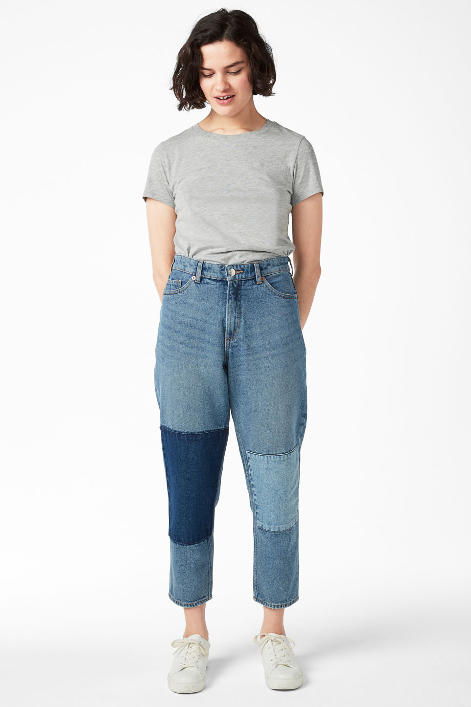 Model front image of Monki taiki blue patch in blue