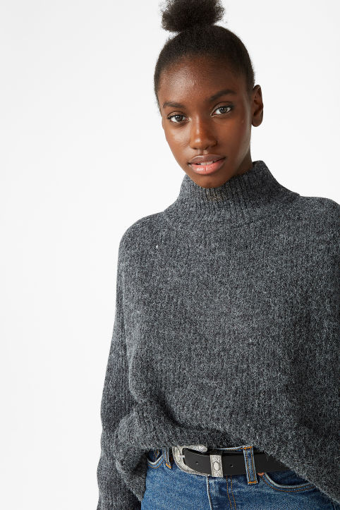 Polo neck knit