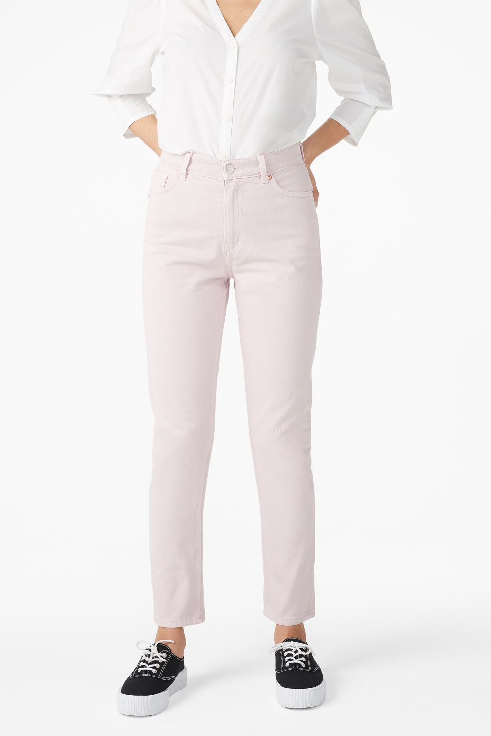 Model front image of Monki kimomo pink in pink
