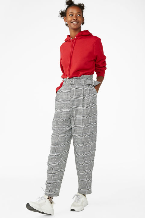 Checked dressy trousers