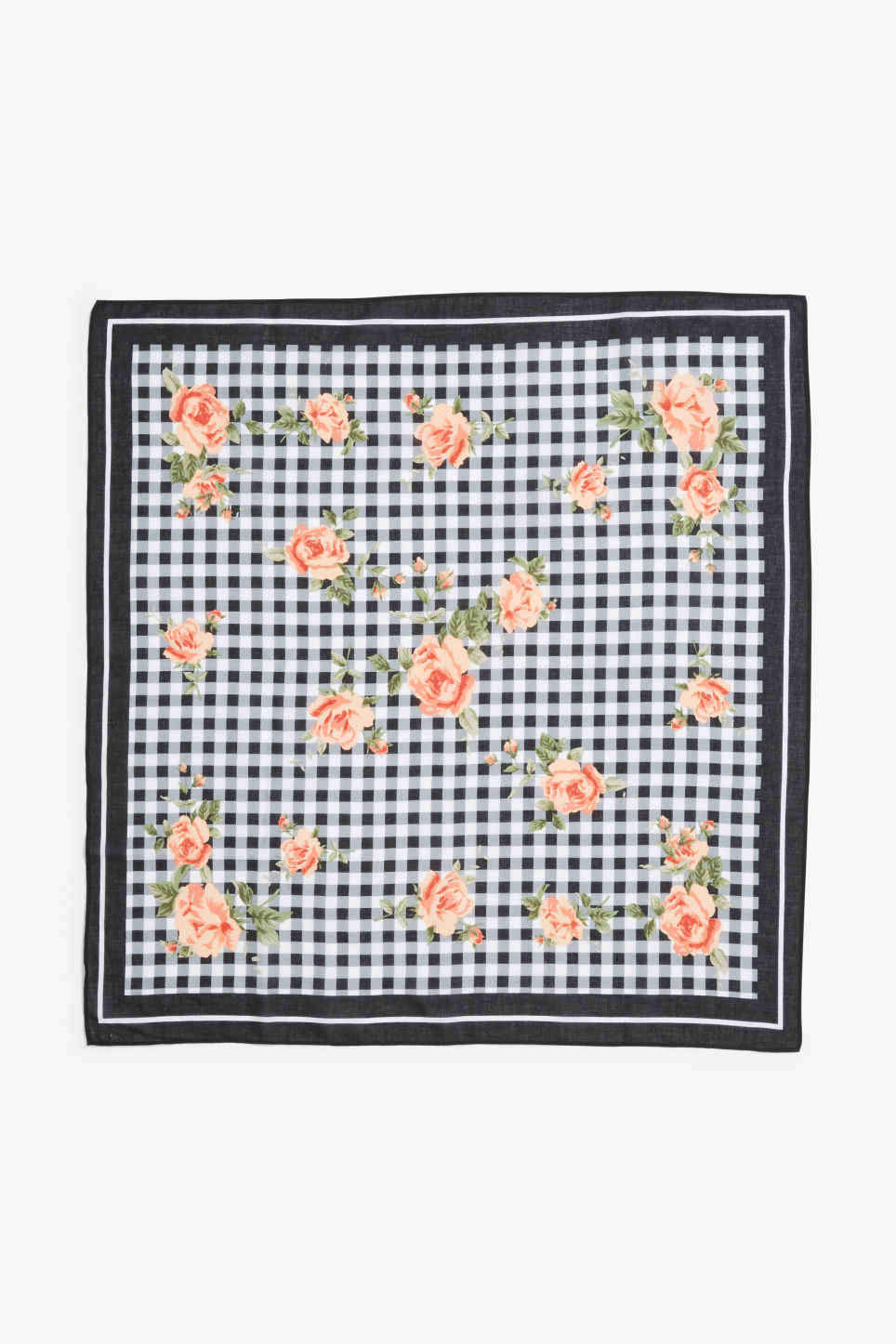 Model front image of Monki printed scarf in white