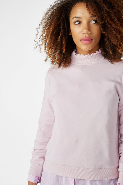 Ruffled neck sweater