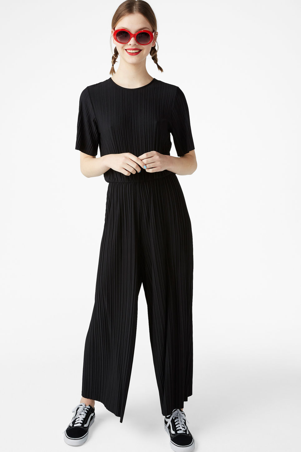 classcic latest collection big sale Pleated jumpsuit - Black magic - Jumpsuits - Monki