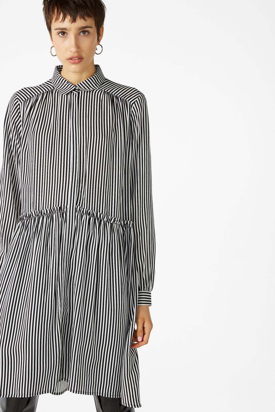 Oversized Shirt Dress Striped To Perfection Dresses Monki