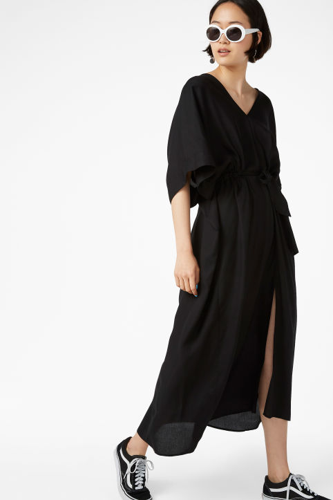 V-necked kaftan dress