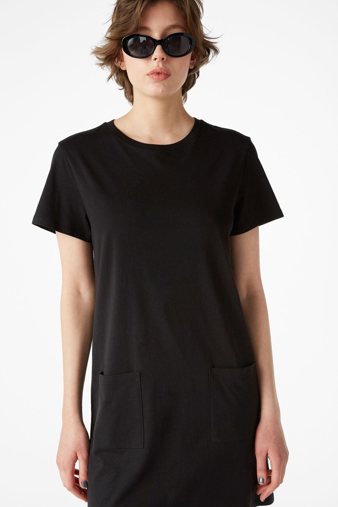 Stripe Front T-Shirt Dress - Grey Monki kbQ6L