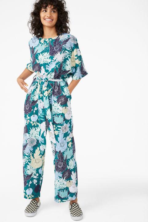 93edcd3bece Belted jumpsuit - Multi-colour polka dot - Jumpsuits - Monki