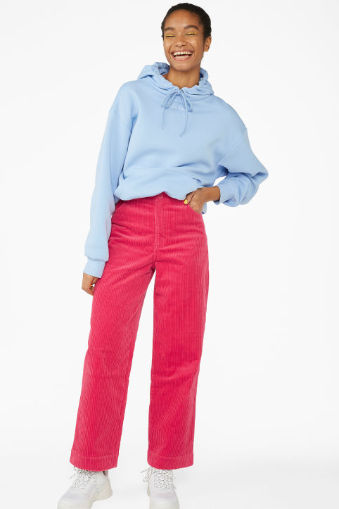 Wide leg corduroy trousers
