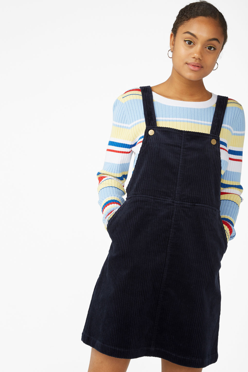 fantastic savings meticulous dyeing processes sophisticated technologies Corduroy dress - Midnight blue - Dresses - Monki