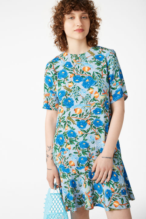 Flounce t-shirt dress