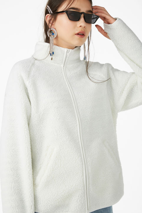 Zip teddy sweater