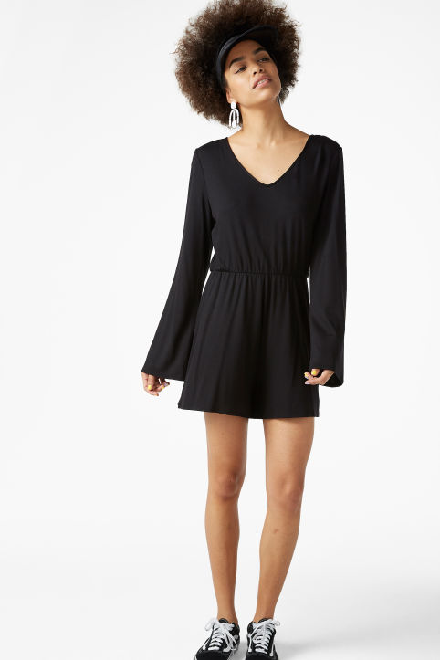 Long-sleeved playsuit