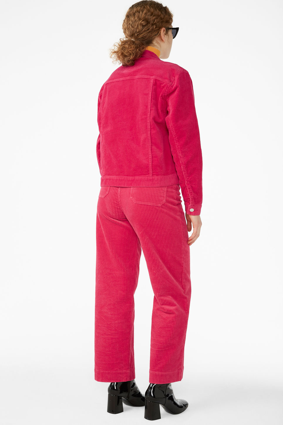 Model back image of Monki short jacket in pink