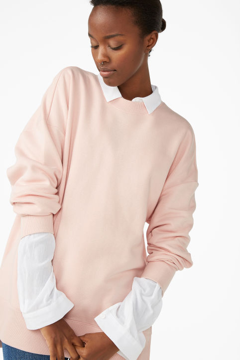 Asymmetrical sweatshirt