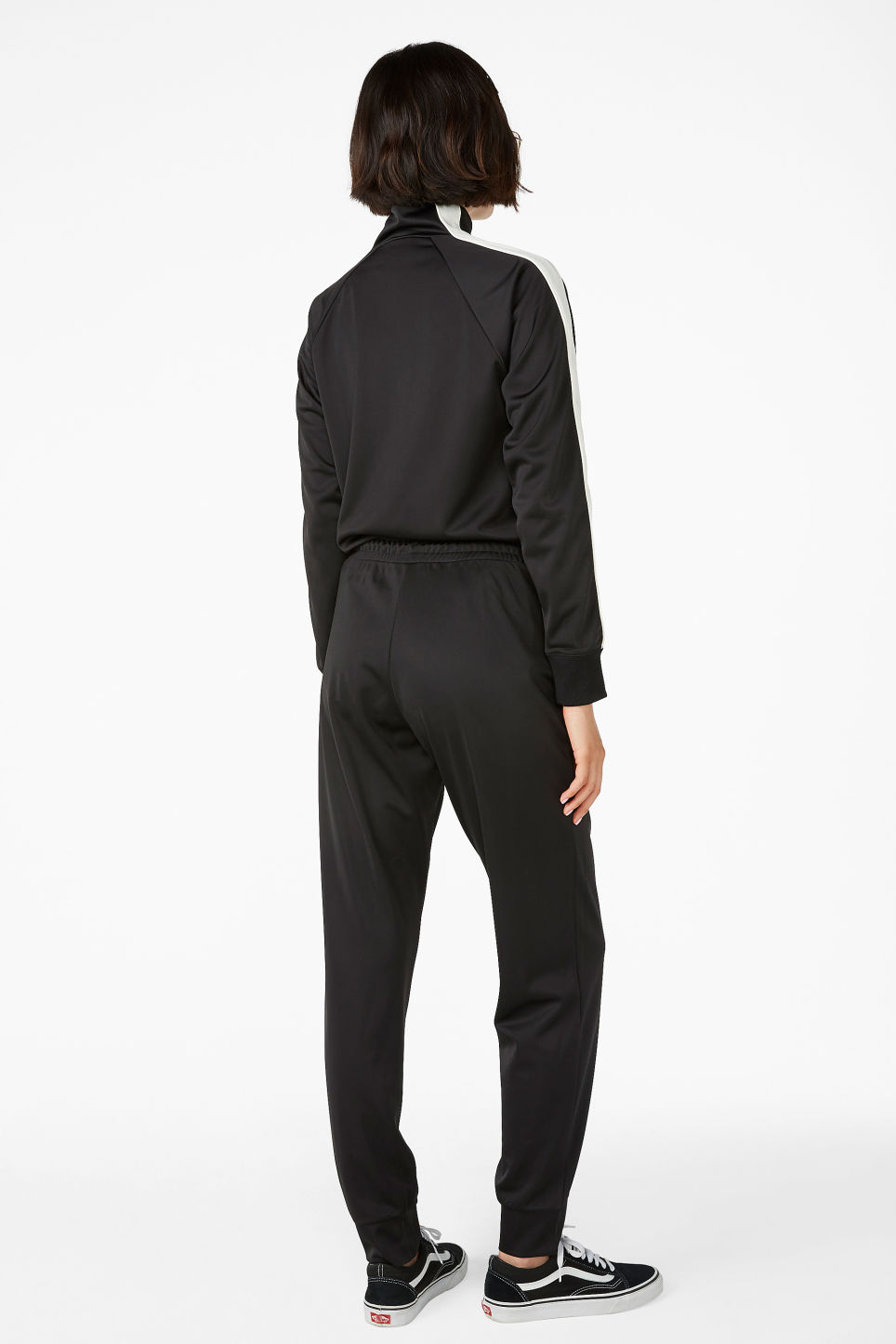 Model back image of Monki formal joggers in black