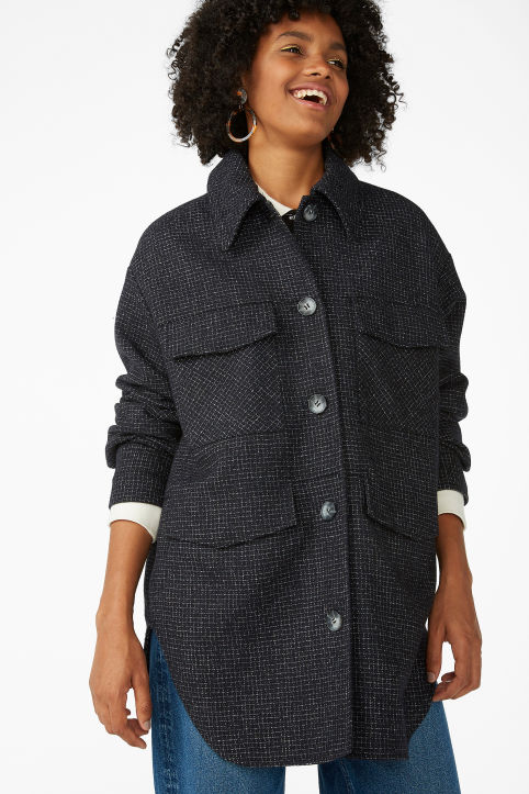 Checkered utility jacket