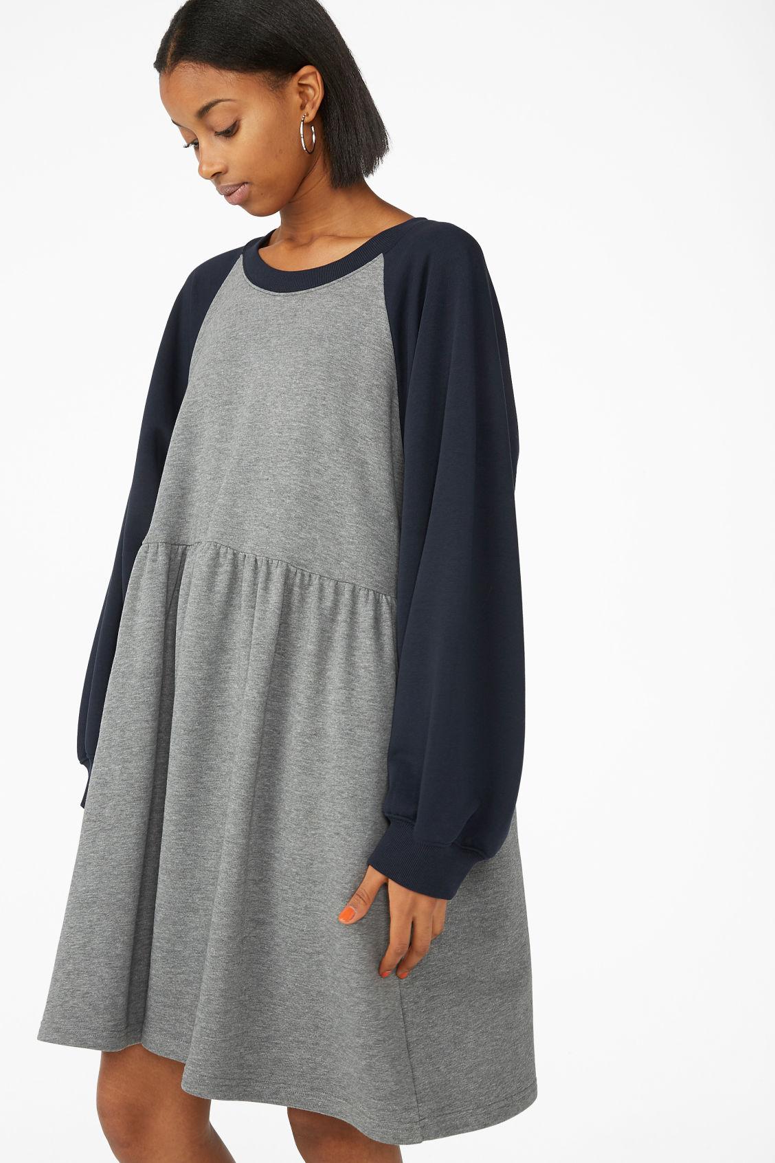 Melange Grey Sweatshirt Dress Dresses Monki 7gyvmb6IYf