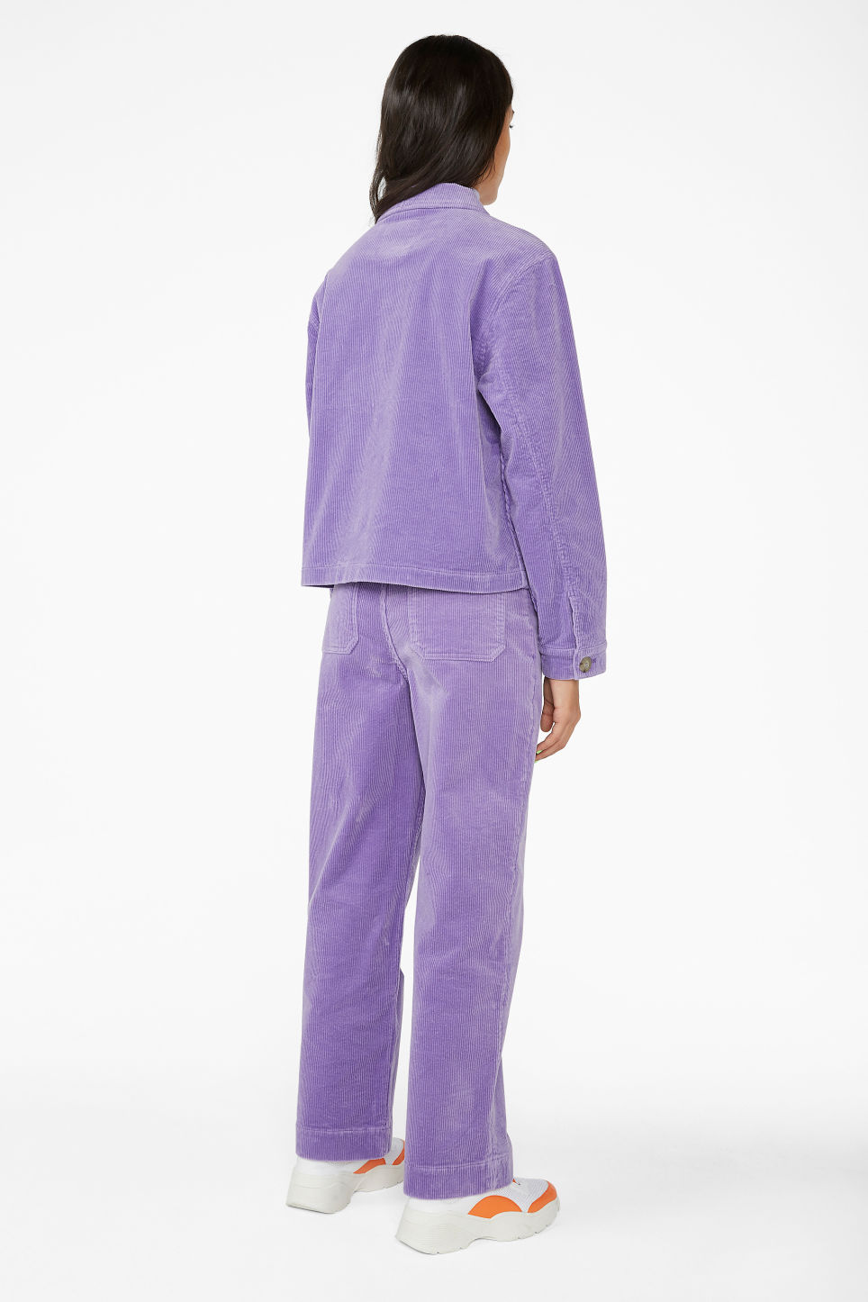 Model back image of Monki short jacket in purple