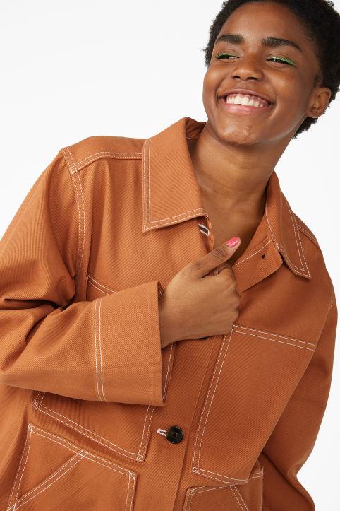 Contrast stitch jacket Contrast stitch jacket a307ad3686