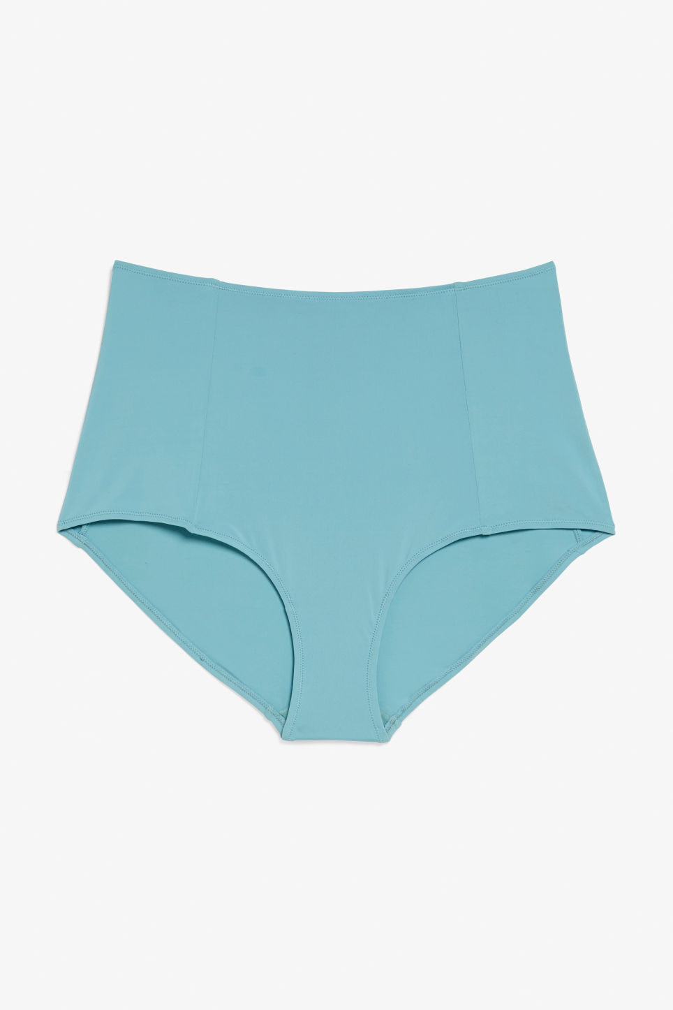 Front image of Monki silky high waist briefs in turquoise