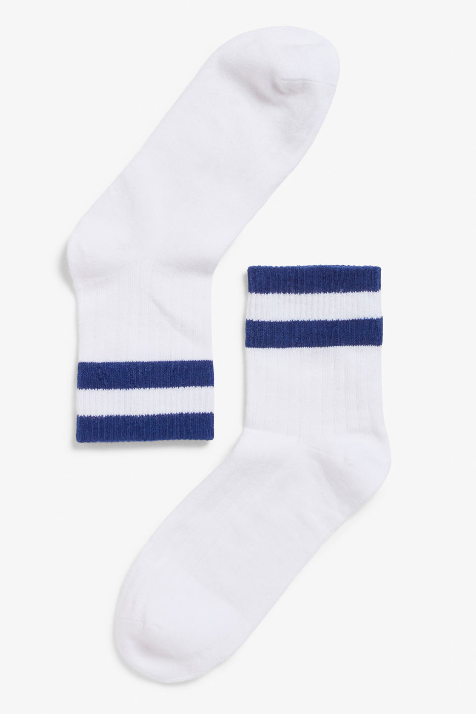Front image of Monki sporty sock in blue
