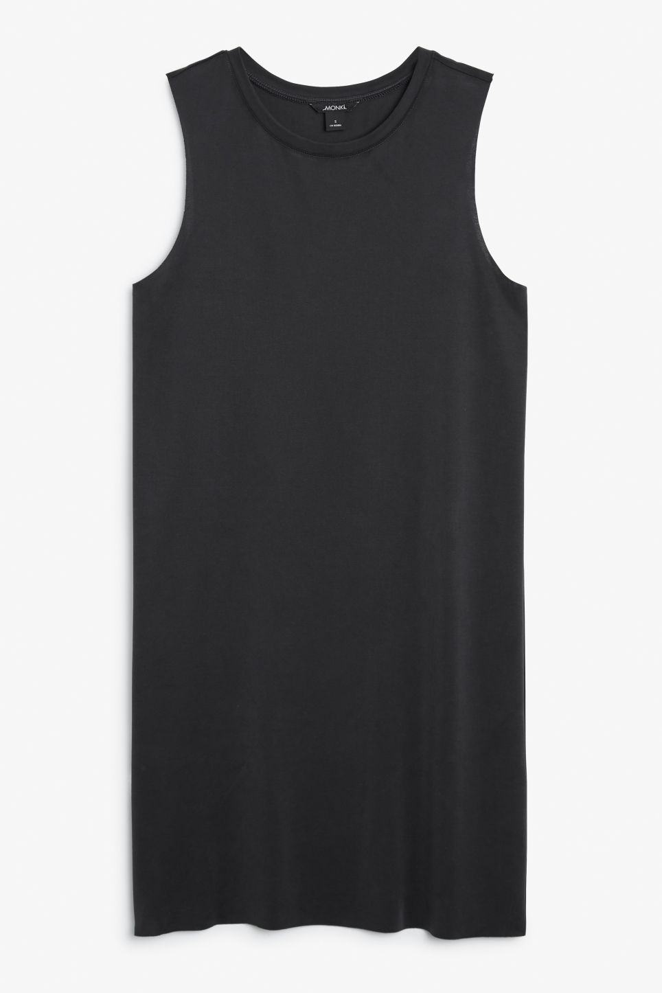 Front image of Monki sleeveless dress in black
