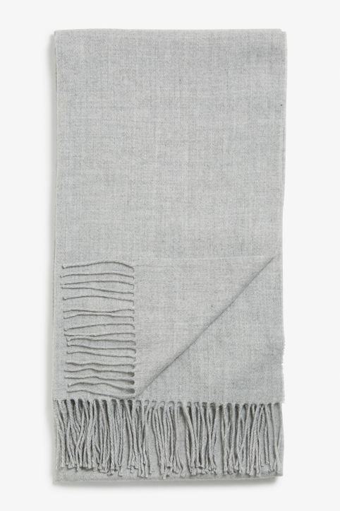 Front image of Monki big comfy scarf in grey