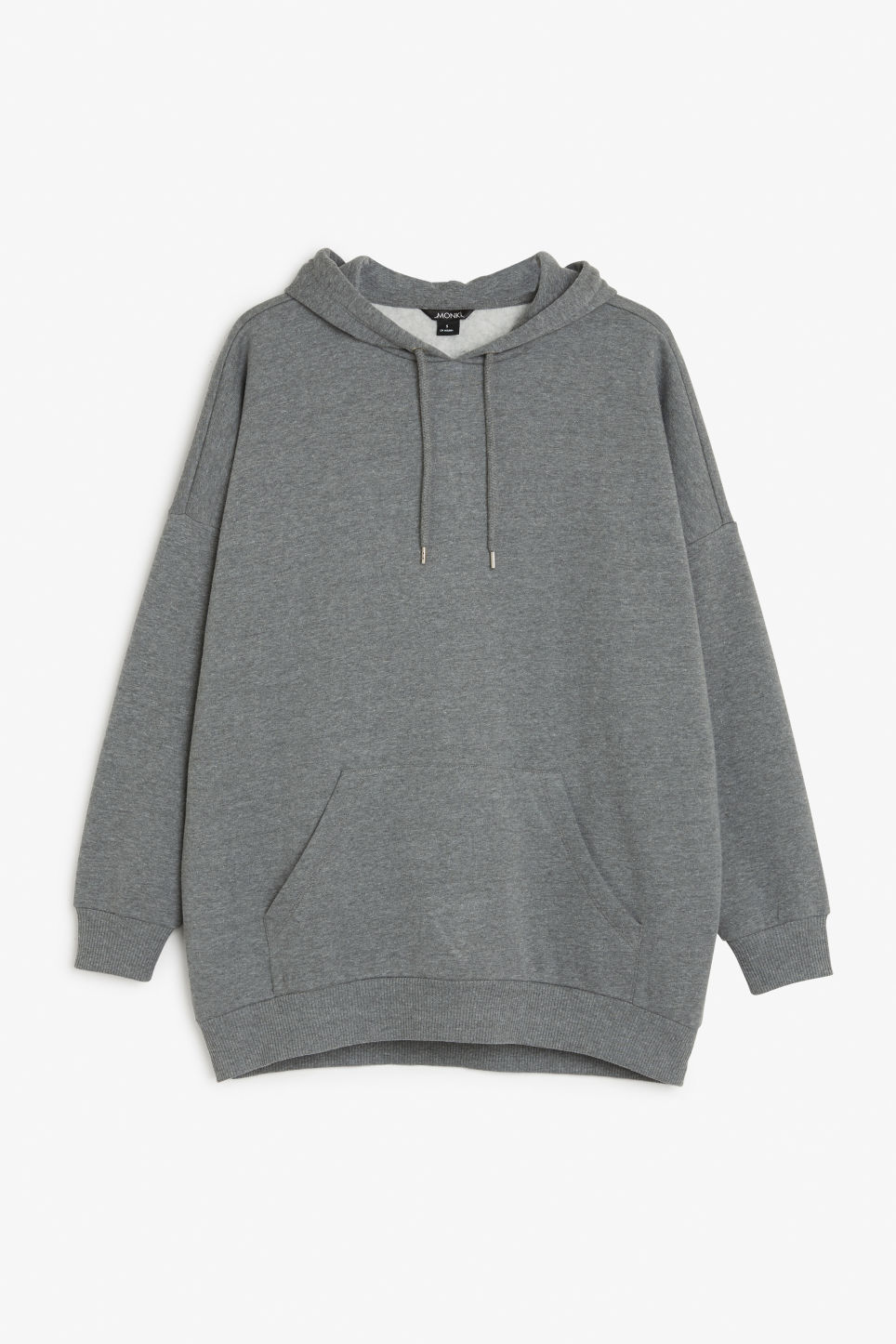 Front image of Monki oversize hoodie in grey