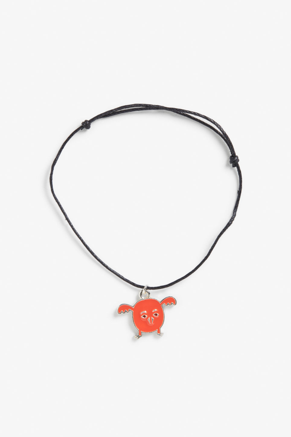 Front image of Monki friendship bracelet in red