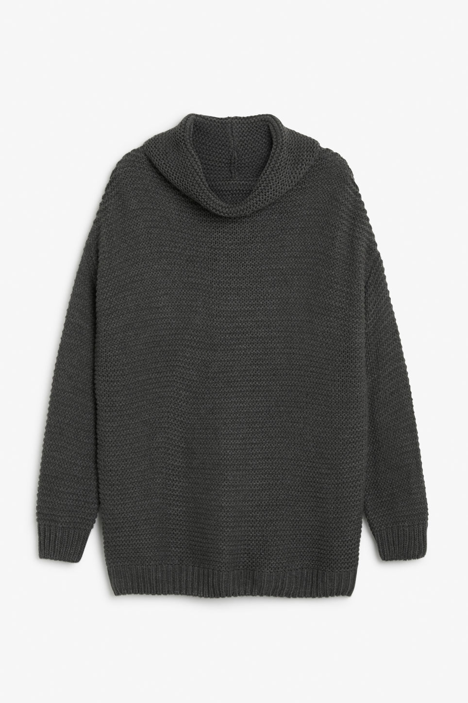 Front image of Monki knit sweater in grey