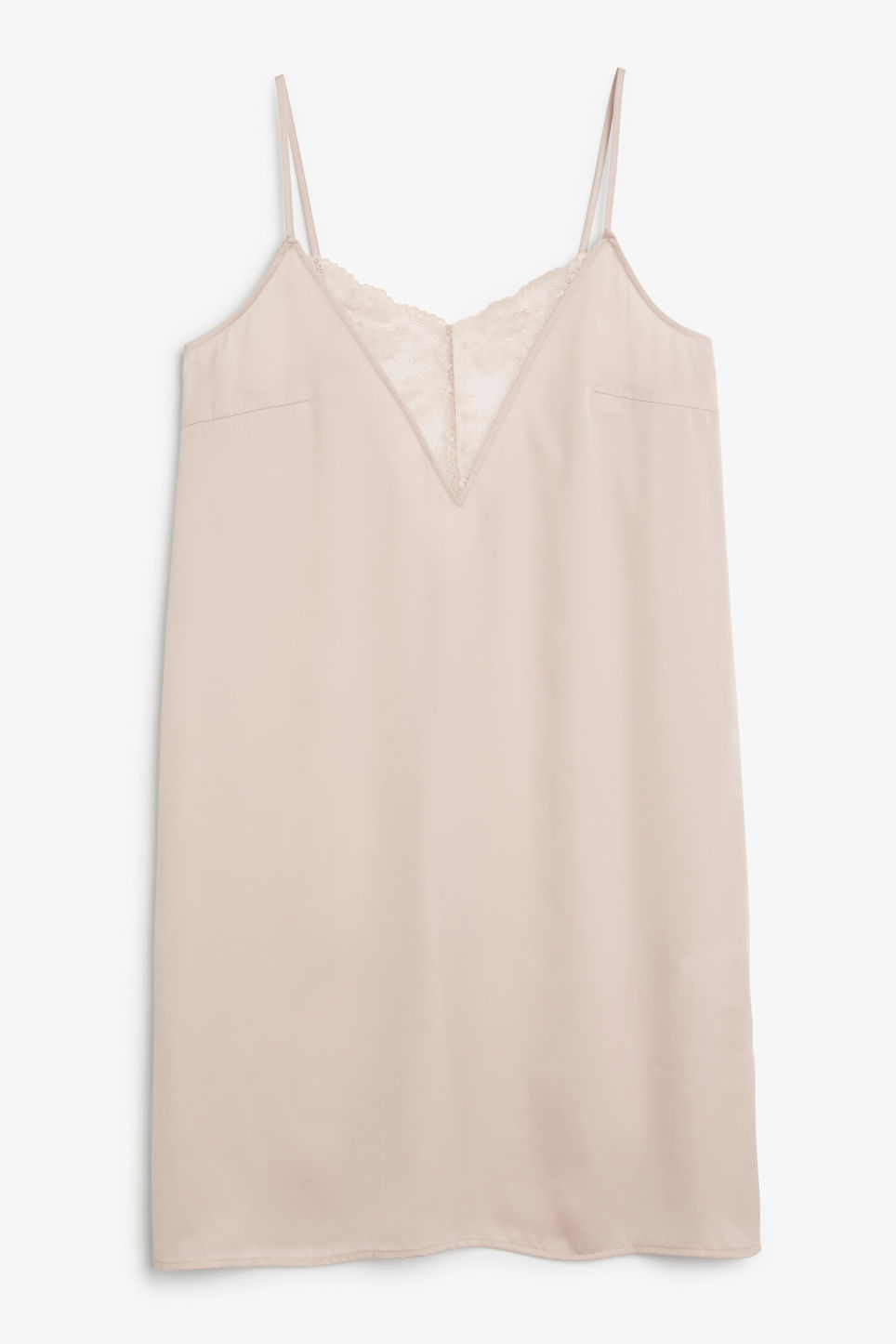 Front image of Monki nighty slip in pink