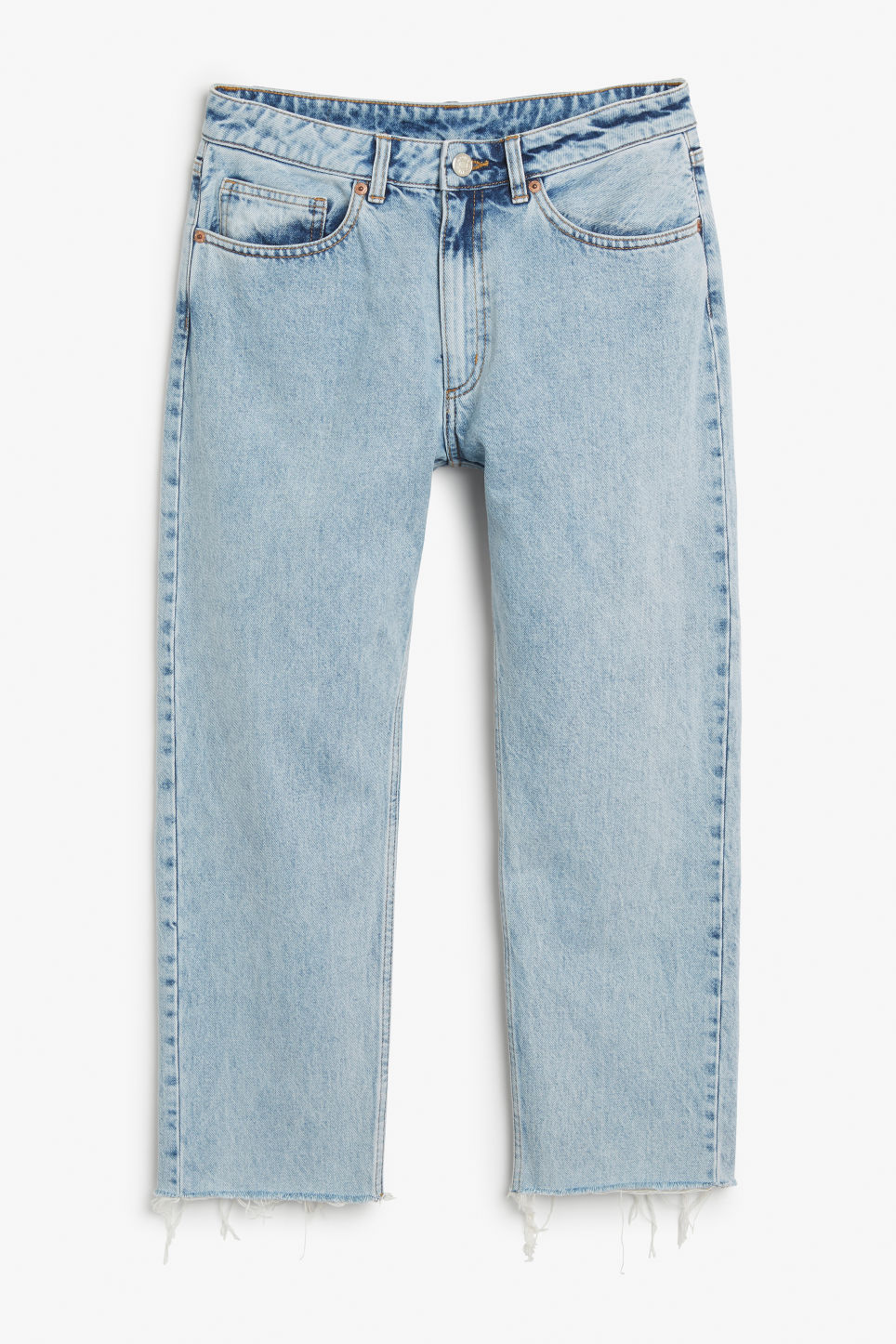 Front image of Monki kyo jeans in blue