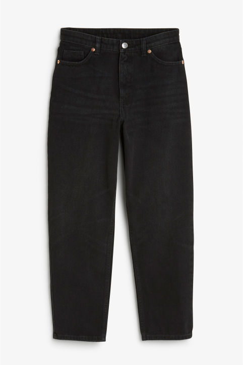 Front image of Monki taiki jeans black in black