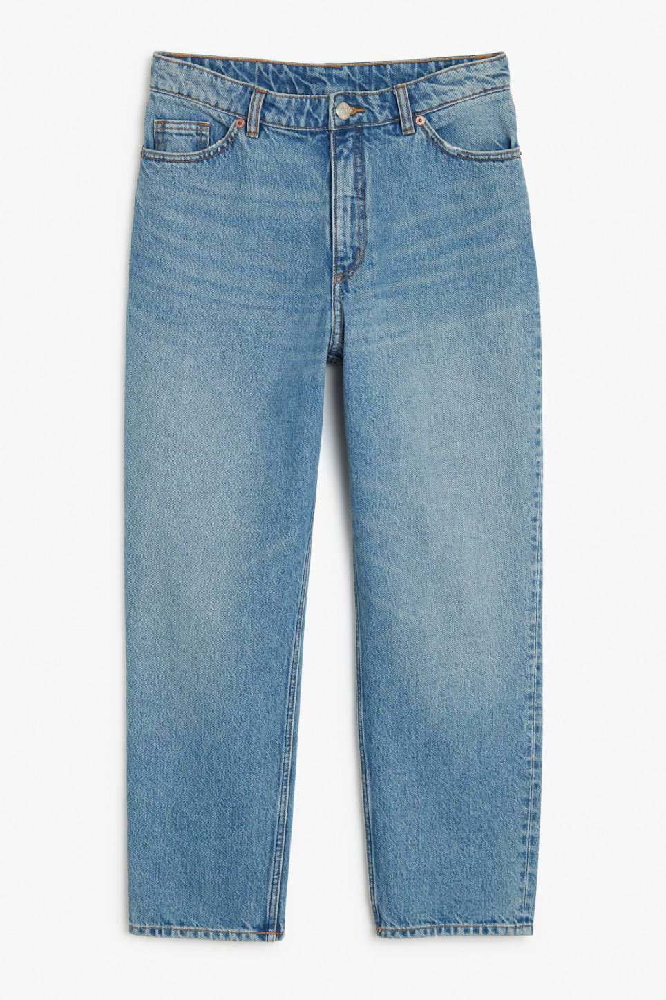 Front image of Monki taiki jeans blue in blue