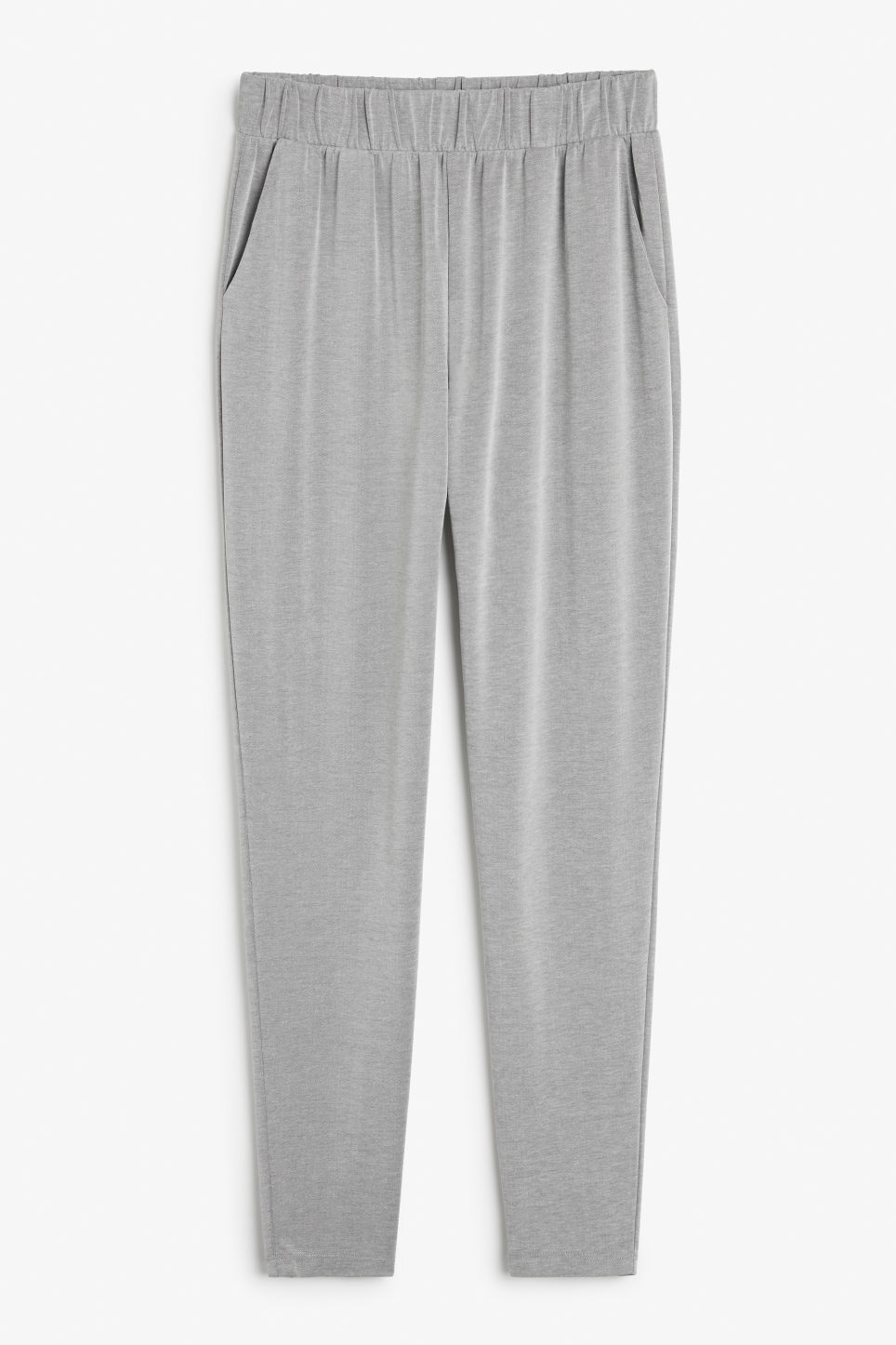 Front image of Monki loungey trousers in grey