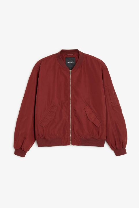 Ruched seam bomber jacket