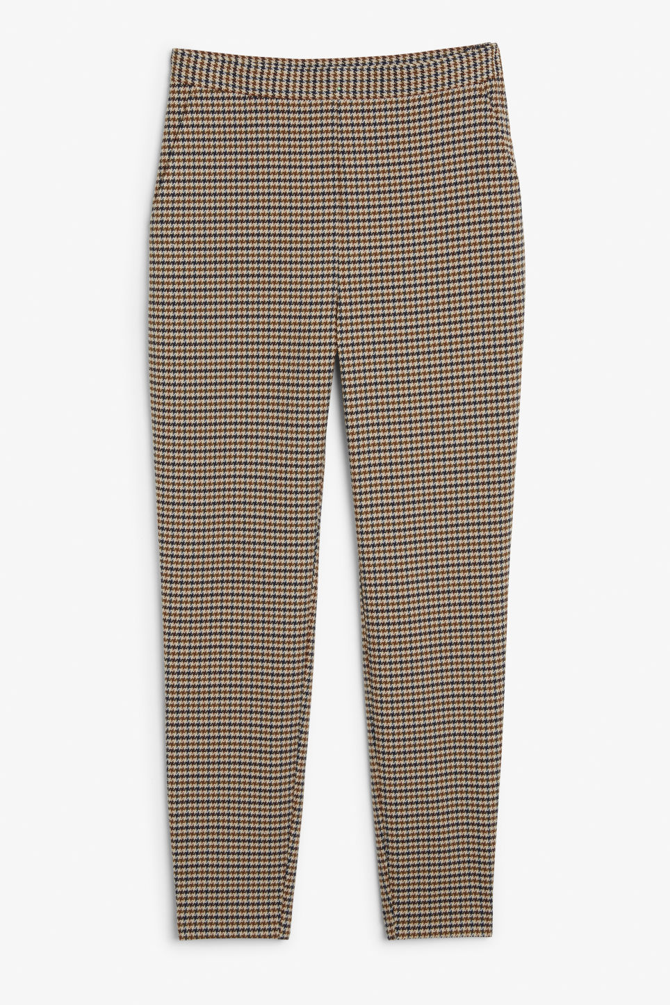 Front image of Monki soft tapered trousers in yellow