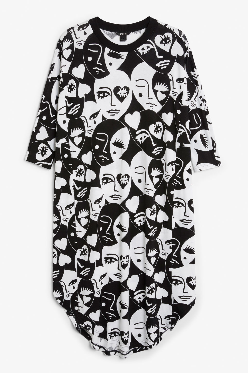 Front image of Monki oversized dress in white
